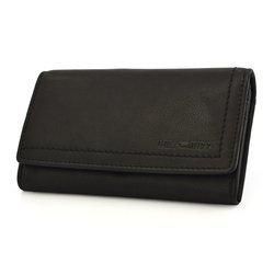 Damski portfel skóra Hill Burry L-104 czarny exclusive