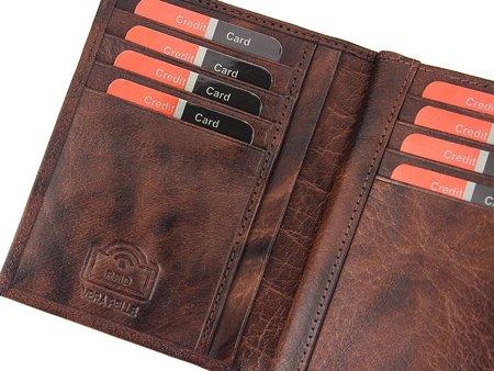 Duży męski portfel skórzany Pierre Cardin RFID
