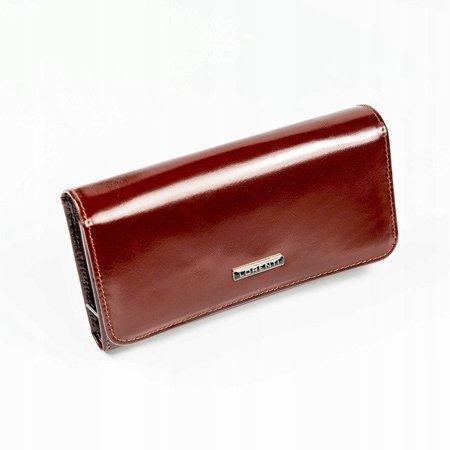 Elegancki, klasyczny portfel damski na zatrzask