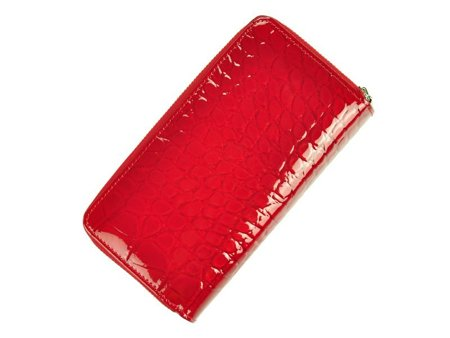 Piękny damski portfel w skórę krokodyla Gregorio