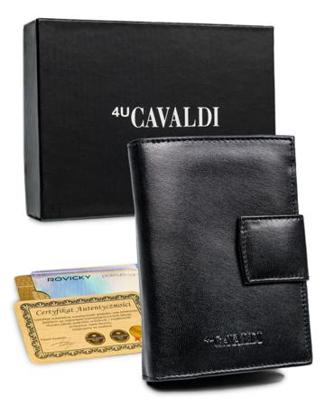 Portfel damski skórzany RFID stop Cavaldi® skóra schowki zatrzask