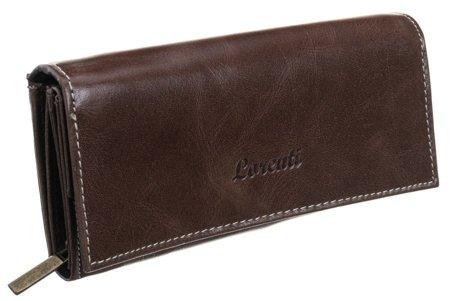 Skórzany portfel damski marki LORENTI® na zatrzask