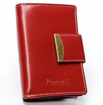 Skórzany portfel damski marki LORENTI®, zapinany na zatrzask